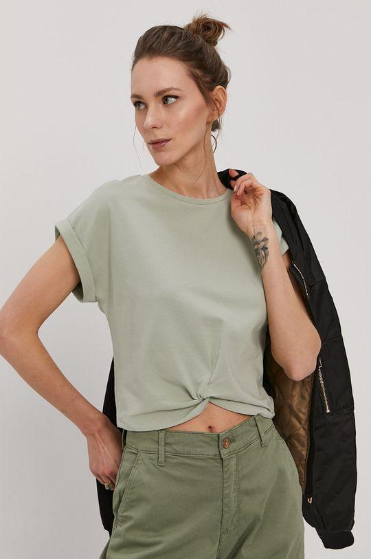 zielony Only - T-shirt Damski