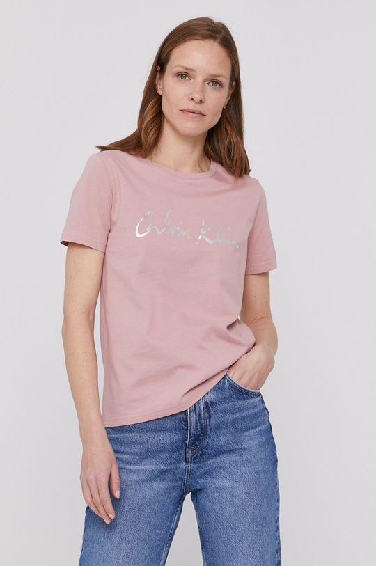 ružová Calvin Klein - Tričko Dámsky