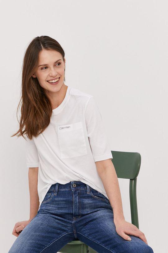 biały Calvin Klein - T-shirt Damski