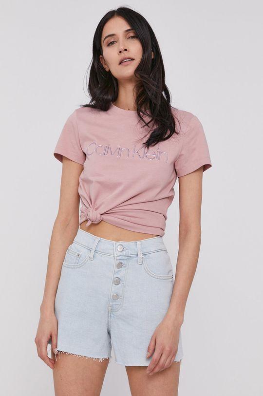 różowy Calvin Klein - T-shirt Damski