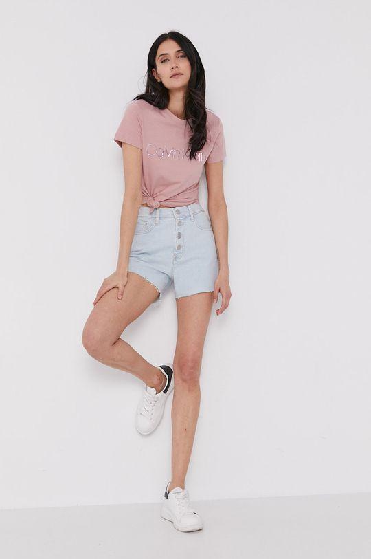 Calvin Klein - T-shirt różowy