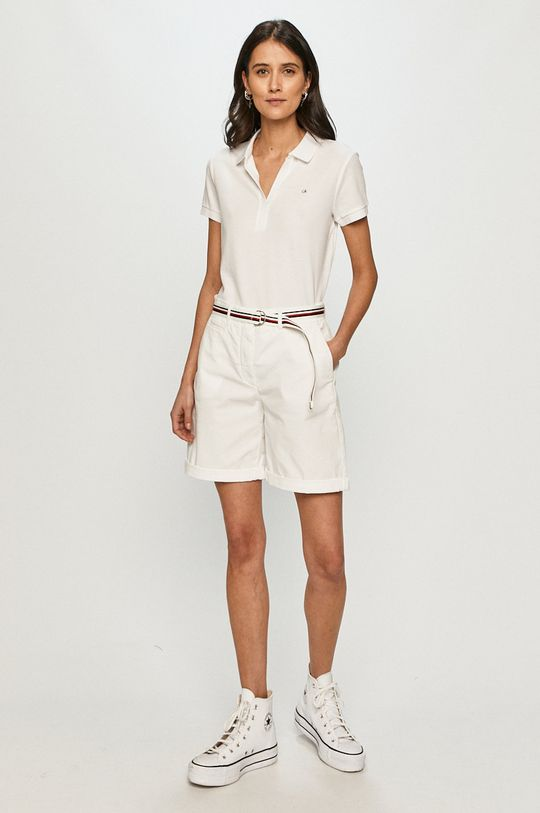 Calvin Klein - Polo tričko biela