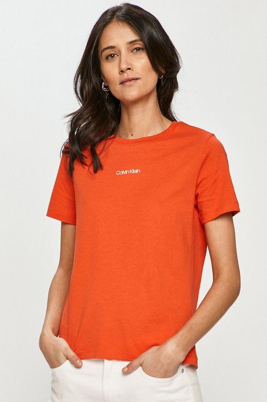 oranžová Calvin Klein - Tričko Dámský