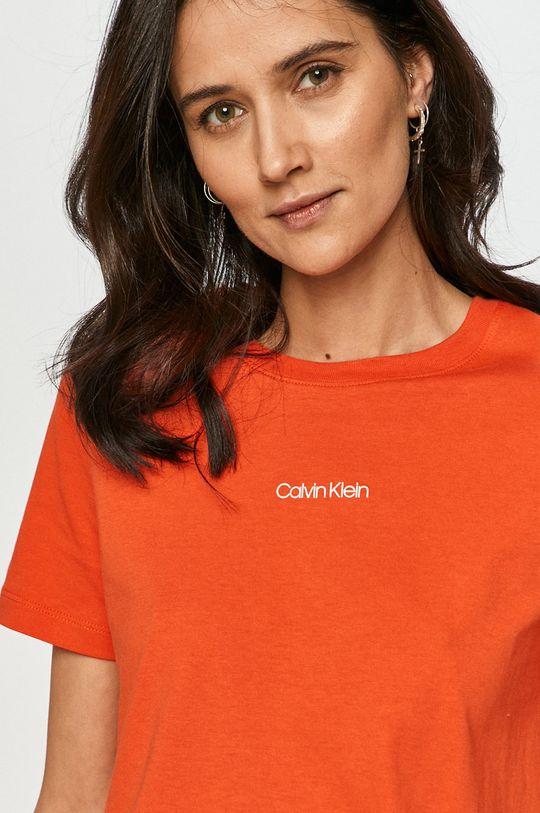 oranžová Calvin Klein - Tričko