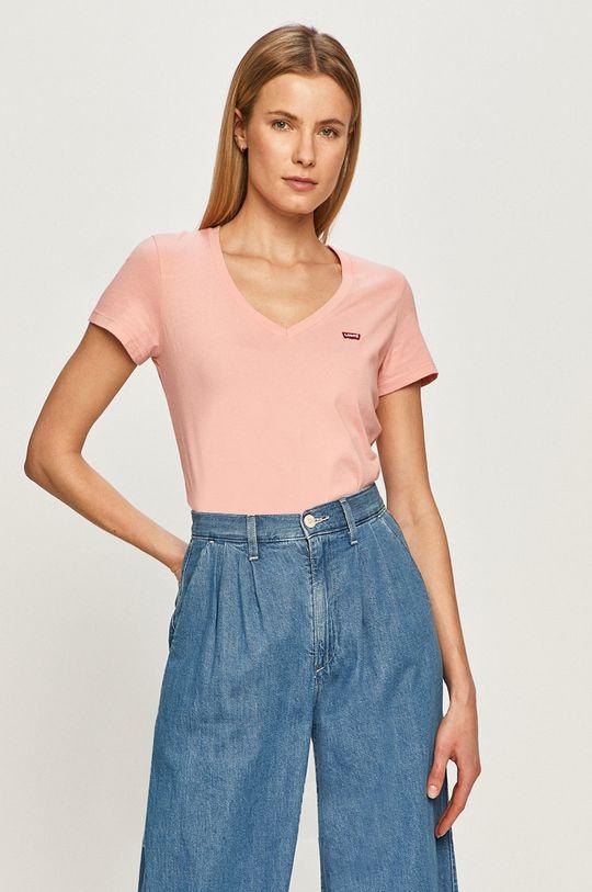 pastelowy różowy Levi's - T-shirt