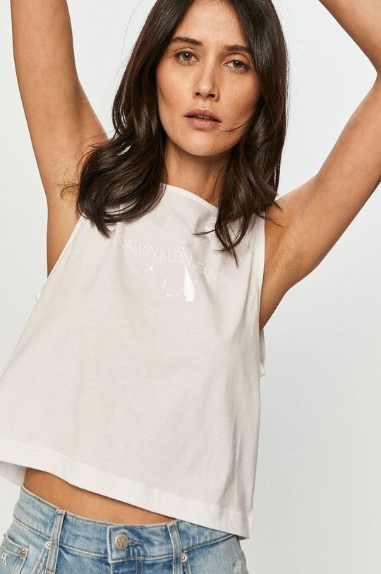 biały Calvin Klein Jeans - T-shirt