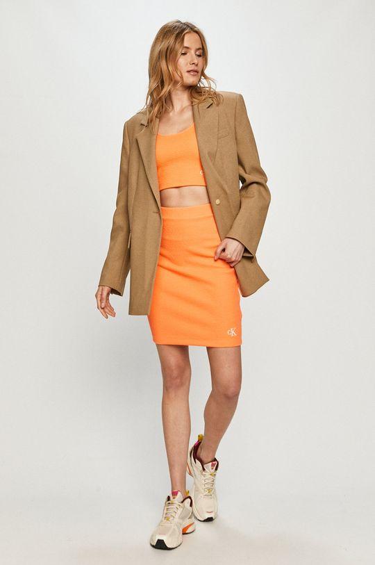 Calvin Klein Jeans - Top oranžová