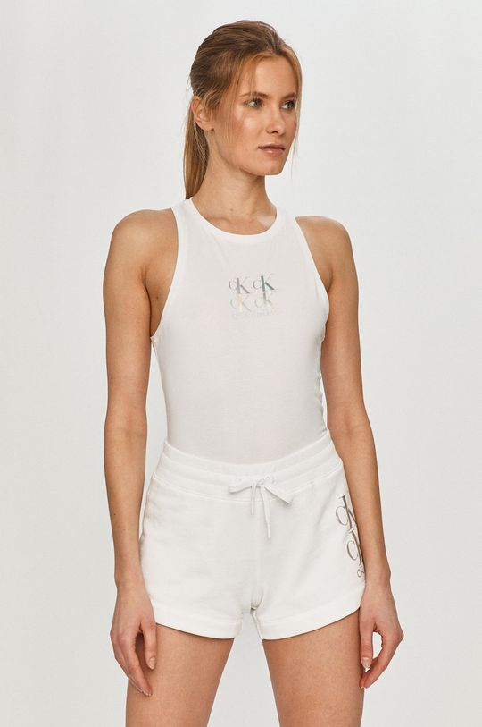 bílá Calvin Klein Jeans - Top Dámský