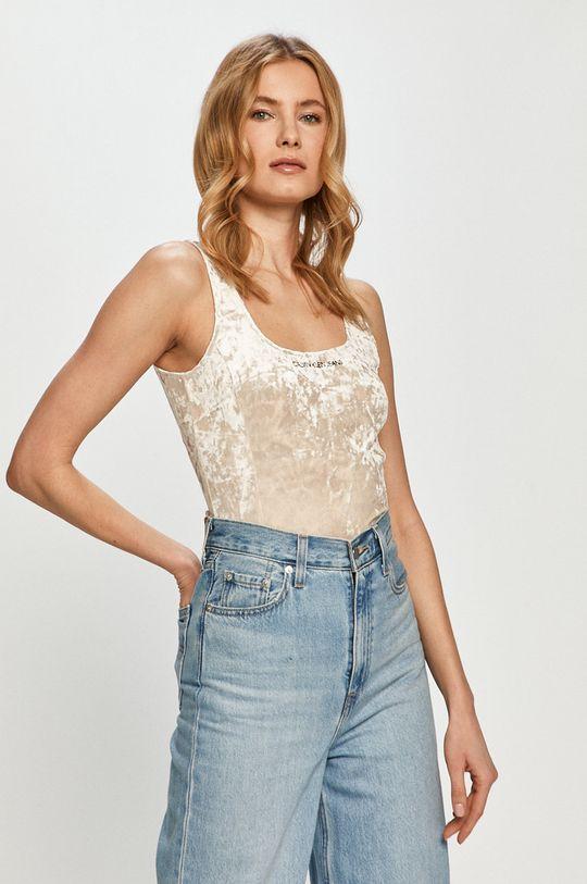 piaskowy Calvin Klein Jeans - Top Damski