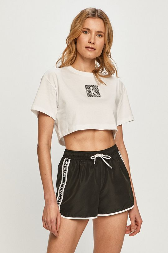biały Calvin Klein Jeans - T-shirt Damski