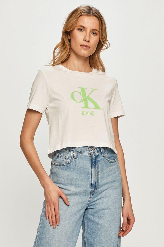 biela Calvin Klein Jeans - Tričko Dámsky