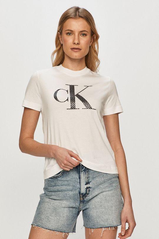 bílá Calvin Klein Jeans - Tričko Dámský