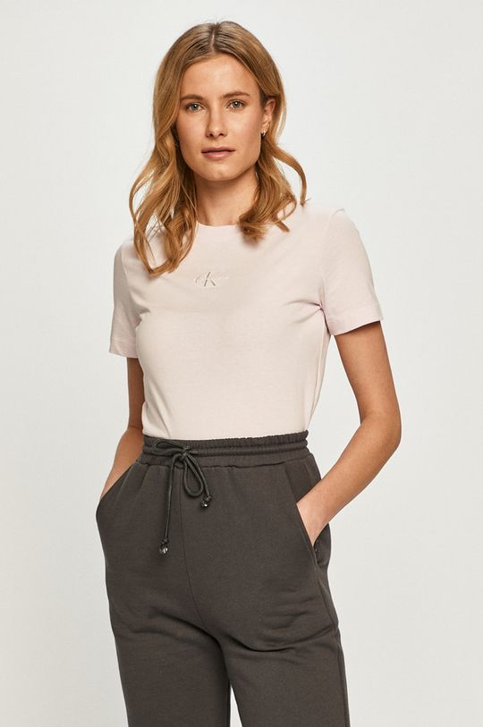 ružová Calvin Klein Jeans - Tričko
