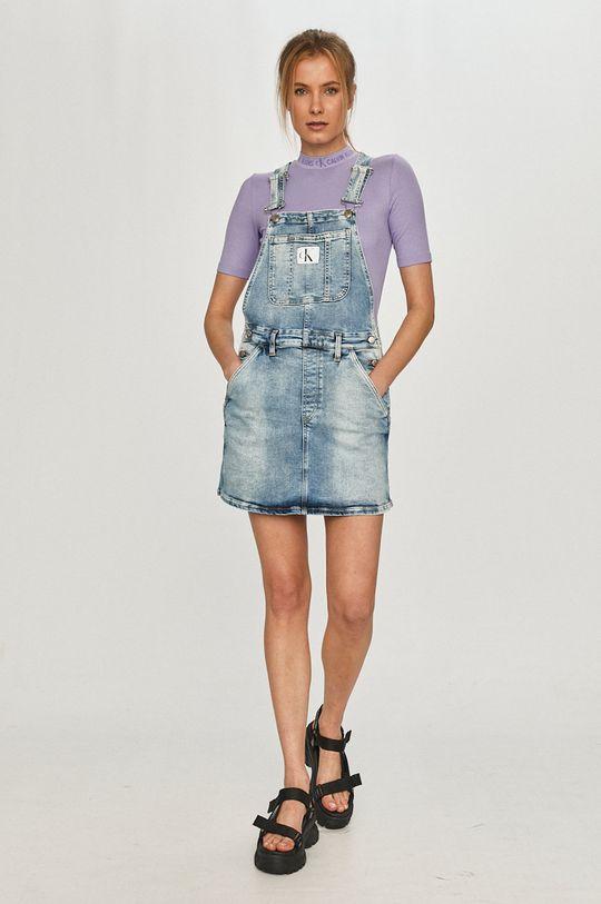 Calvin Klein Jeans - Tričko červenofialový