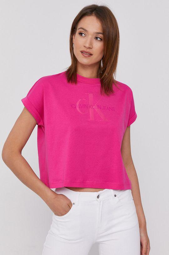 ostrá růžová Calvin Klein Jeans - Tričko Dámský