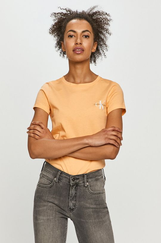 Calvin Klein Jeans - T-shirt (2-pack) pomarańczowy