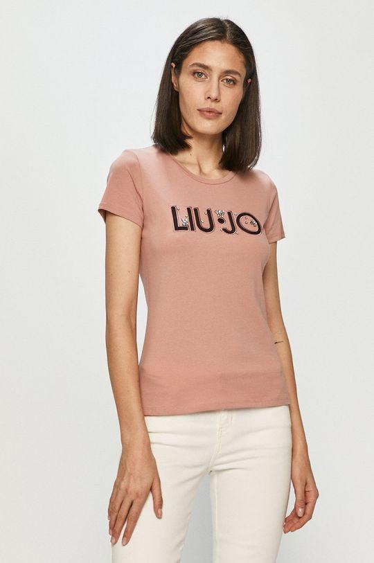 różowy Liu Jo - T-shirt Damski