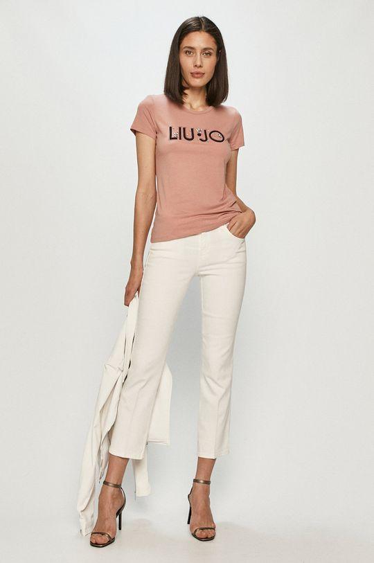 Liu Jo - T-shirt różowy