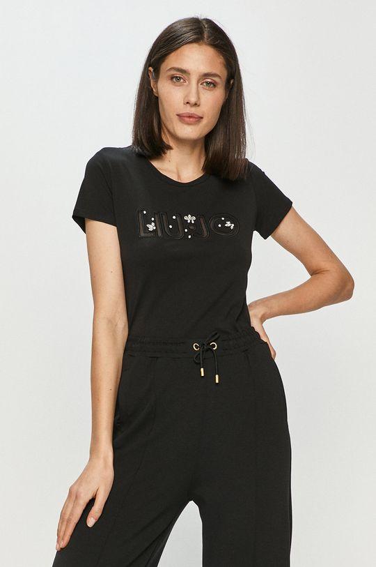 czarny Liu Jo - T-shirt Damski