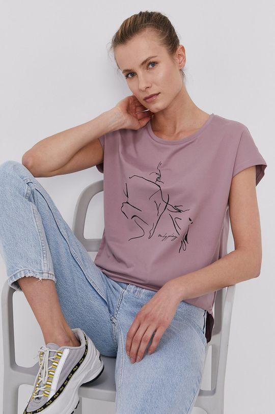 fioletowy Only Play - T-shirt Damski