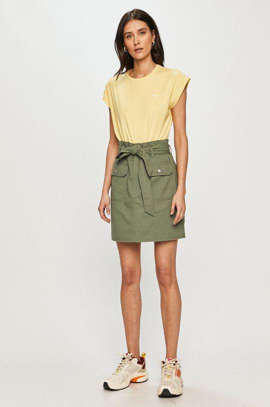 Pepe Jeans - T-shirt Bloom żółty