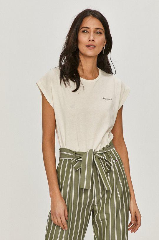 biały Pepe Jeans - T-shirt Bloom Damski