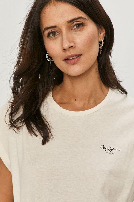 biały Pepe Jeans - T-shirt Bloom