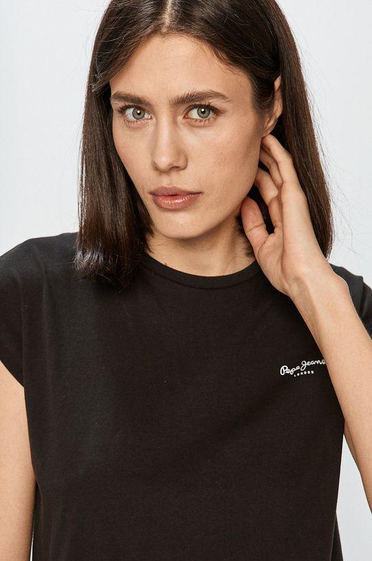 čierna Pepe Jeans - Tričko Bloom
