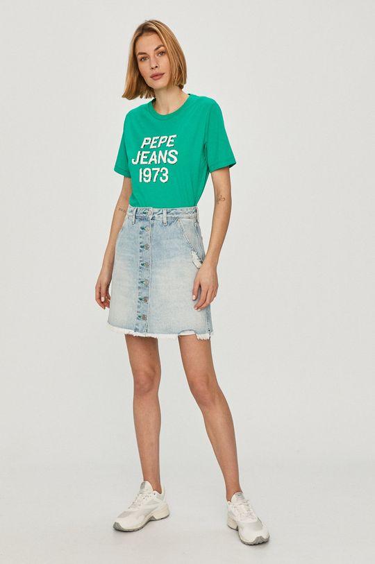 Pepe Jeans - Tričko Ashley tyrkysová modrá
