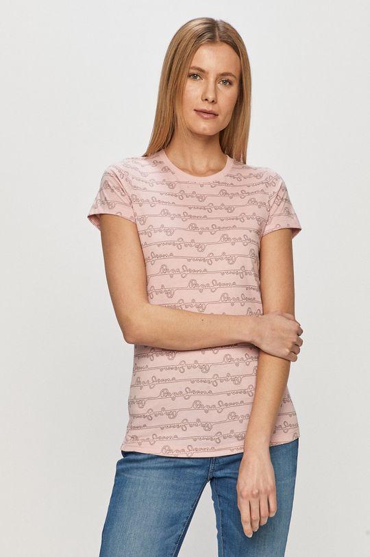 różowy Pepe Jeans - T-shirt Cecile Damski