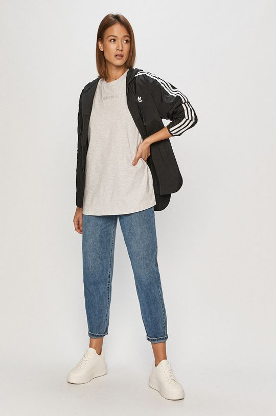 adidas Originals - T-shirt jasny szary