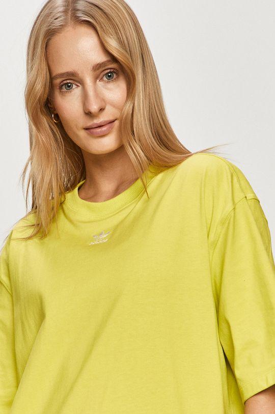 žlutě zelená adidas Originals - Tričko