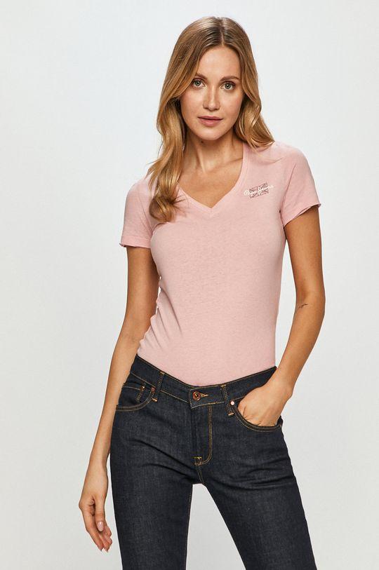 ružová Pepe Jeans - Tričko Blue