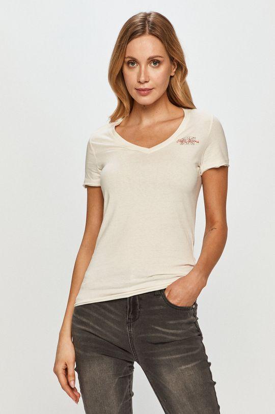 biela Pepe Jeans - Tričko Bleu Dámsky