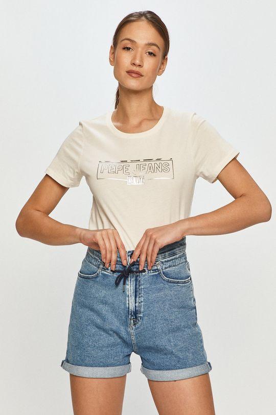 smetanová Pepe Jeans - Tričko Betty