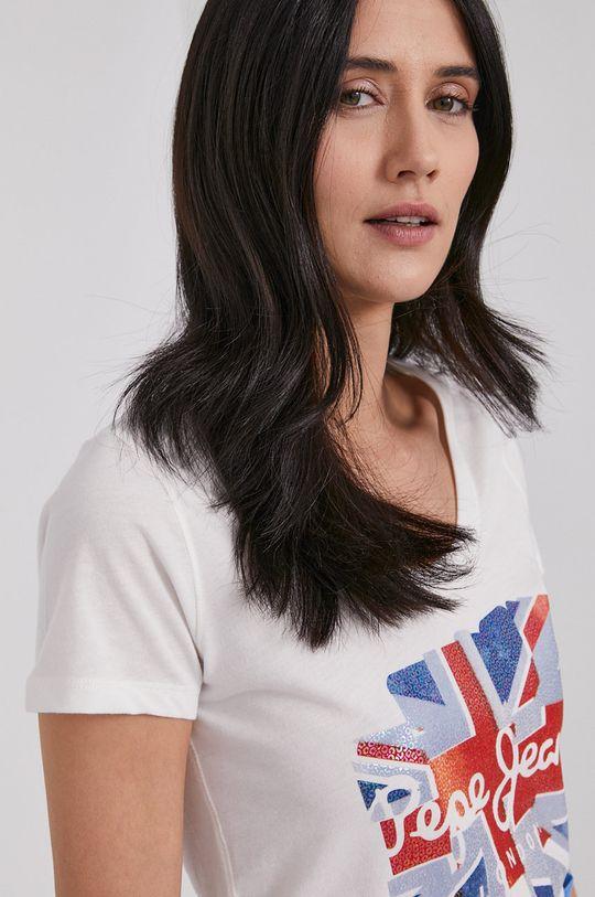 biały Pepe Jeans - T-shirt Blaze