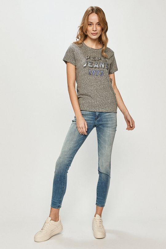 Pepe Jeans - T-shirt Bibiana szary