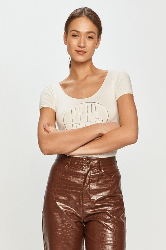 bílá Pepe Jeans - Tričko Bella