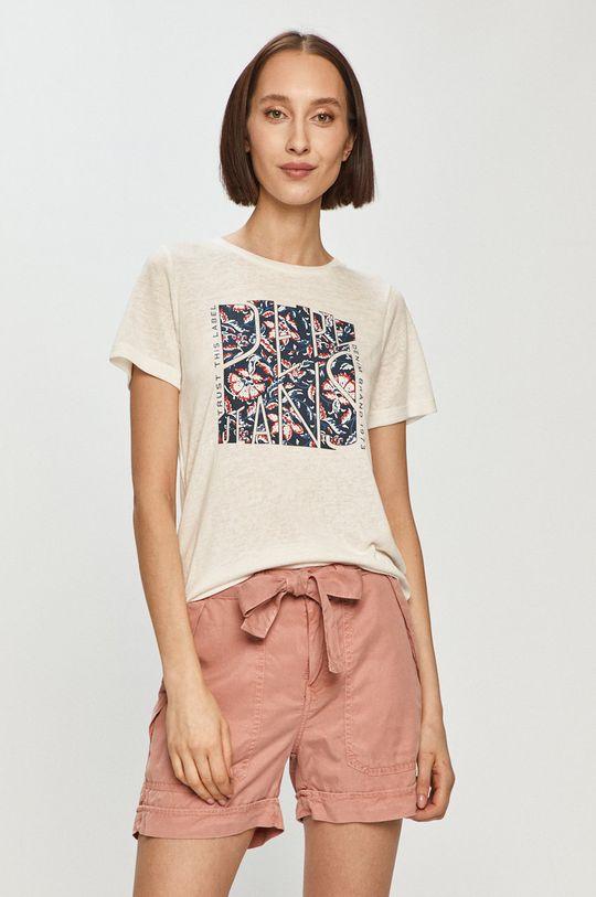 biały Pepe Jeans - T-shirt Brooklyn Damski