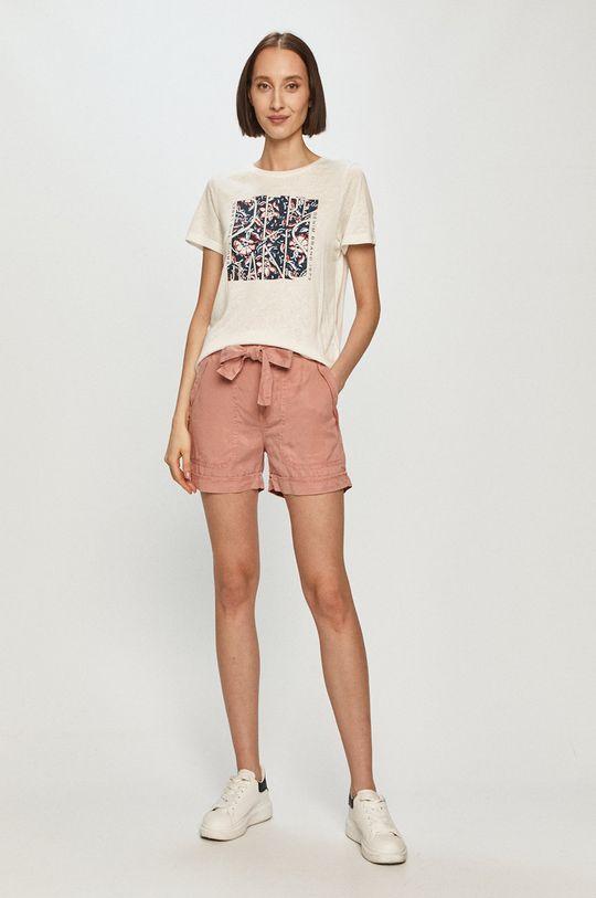 Pepe Jeans - T-shirt Brooklyn biały