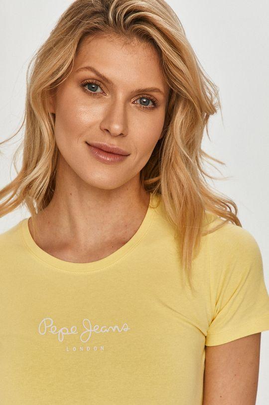 žlutá Pepe Jeans - Tričko New Virginia