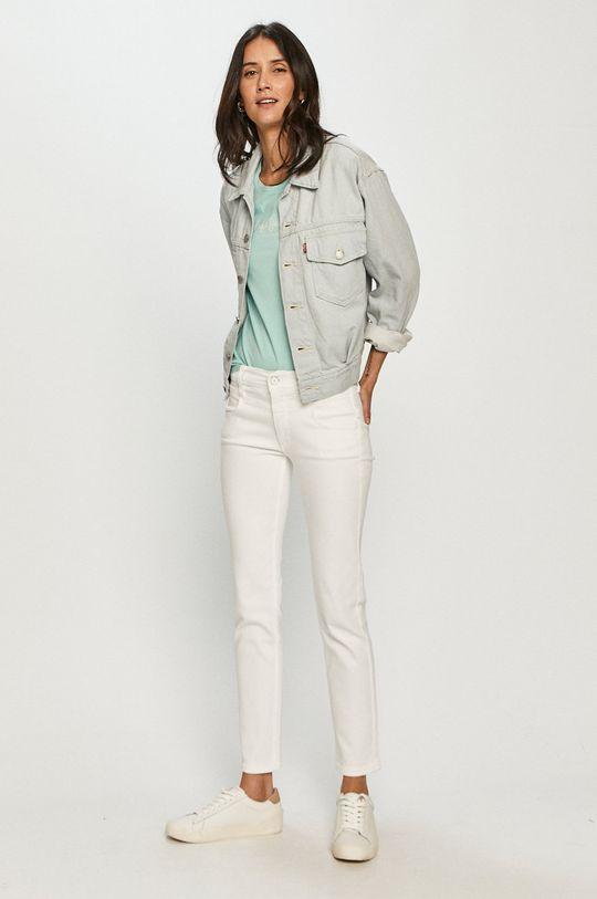 Pepe Jeans - Tričko New Virginia světle tyrkysová
