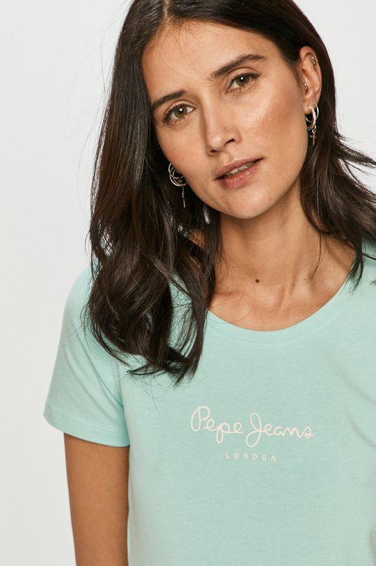 světle tyrkysová Pepe Jeans - Tričko New Virginia