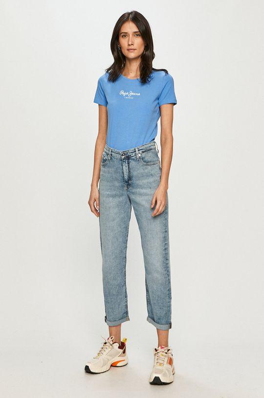 Pepe Jeans - T-shirt NEW VIRGINIA niebieski