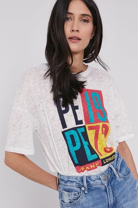 biały Pepe Jeans - T-shirt Dita