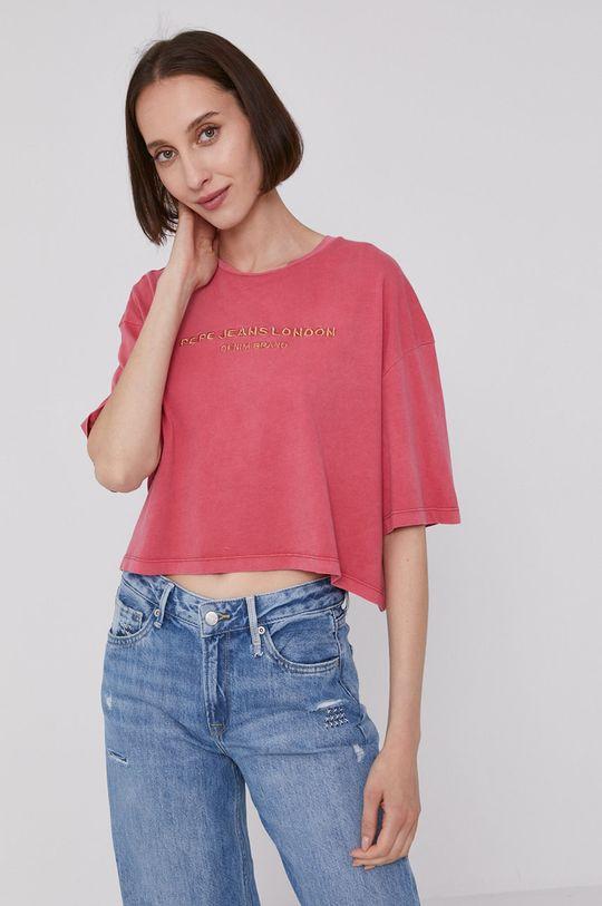 ostry różowy Pepe Jeans - T-shirt DANIELLA Damski