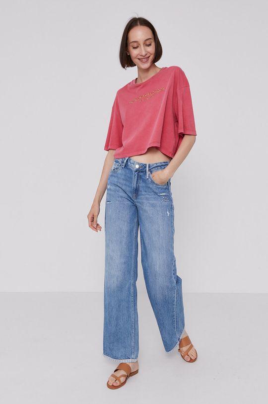 Pepe Jeans - T-shirt DANIELLA ostry różowy
