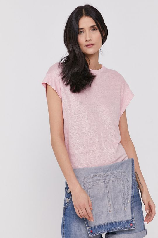różowy Pepe Jeans - T-shirt Damski