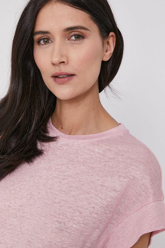różowy Pepe Jeans - T-shirt