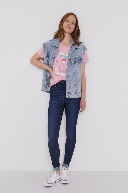 Pepe Jeans - T-shirt Dree różowy